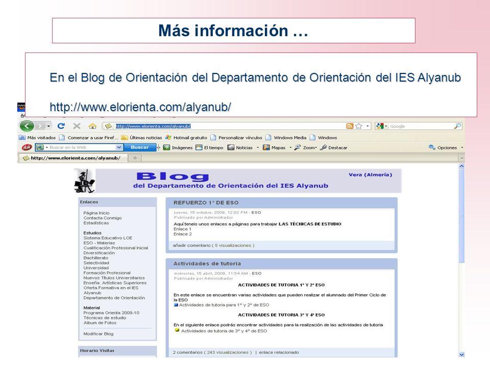 Más información … En el Blog de Orientación del Departamento de Orientación del IES Alyanub.