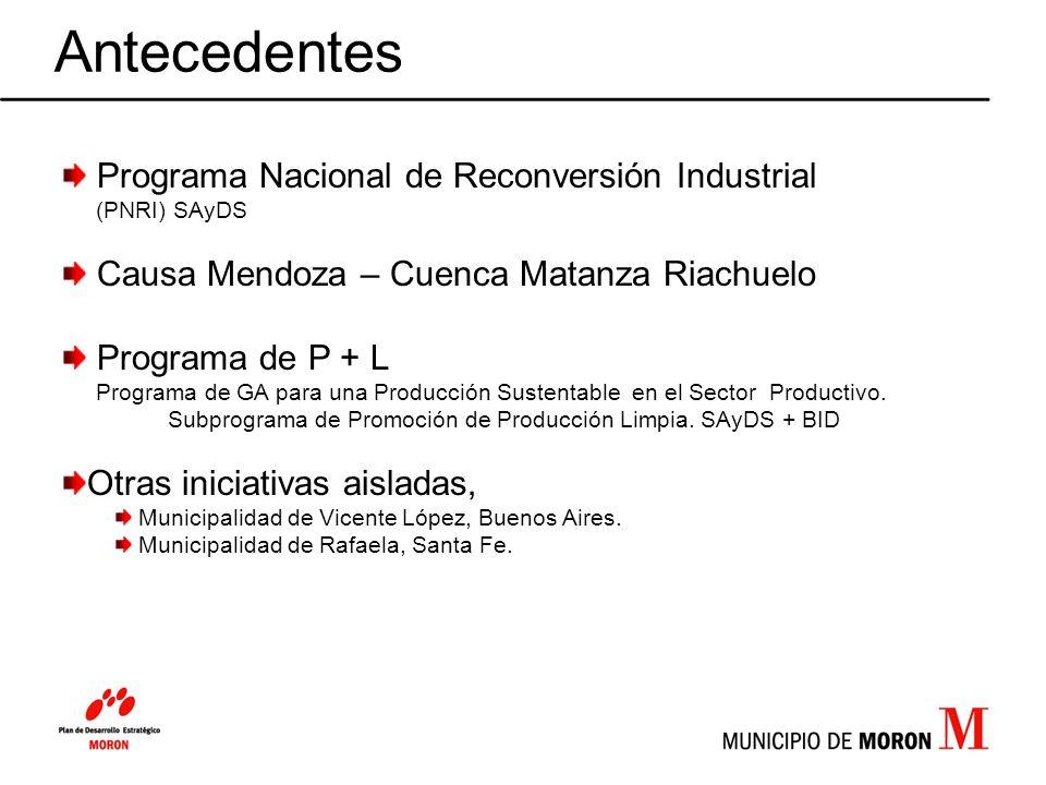 Antecedentes Programa Nacional de Reconversión Industrial