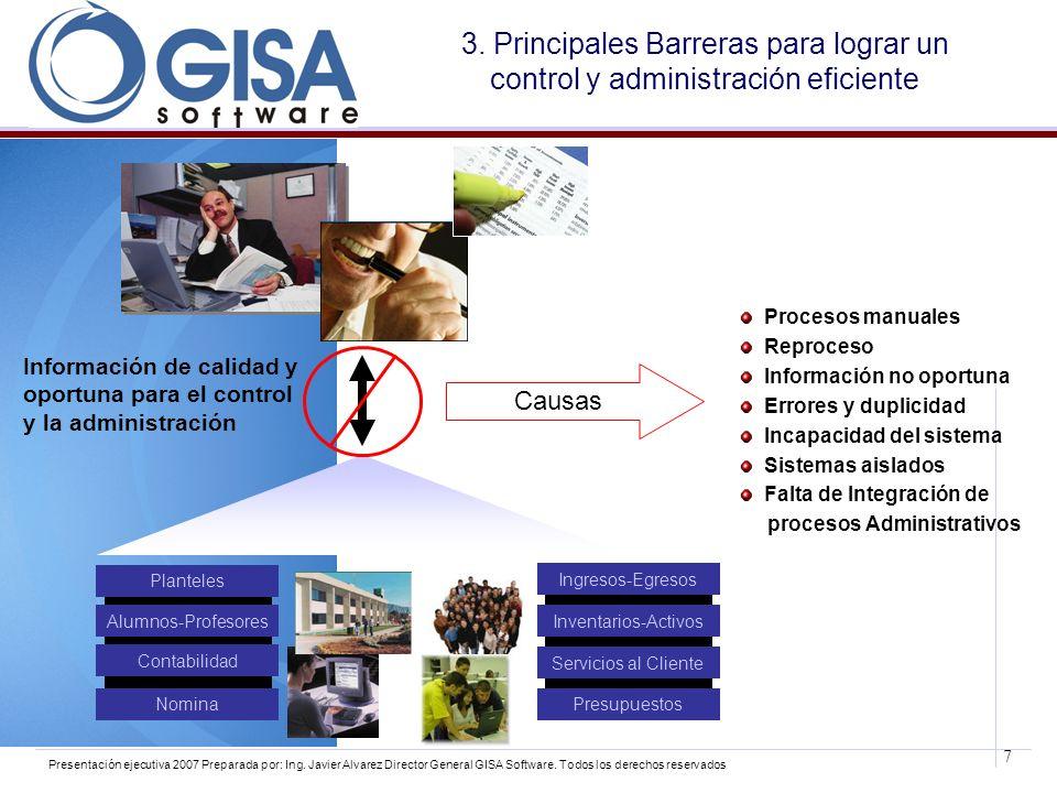 3. Principales Barreras para lograr un control y administración eficiente