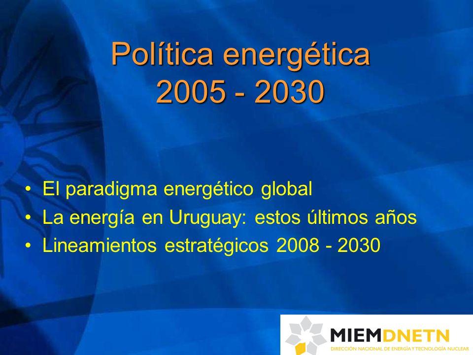 Política energética 2005 - 2030 El paradigma energético global