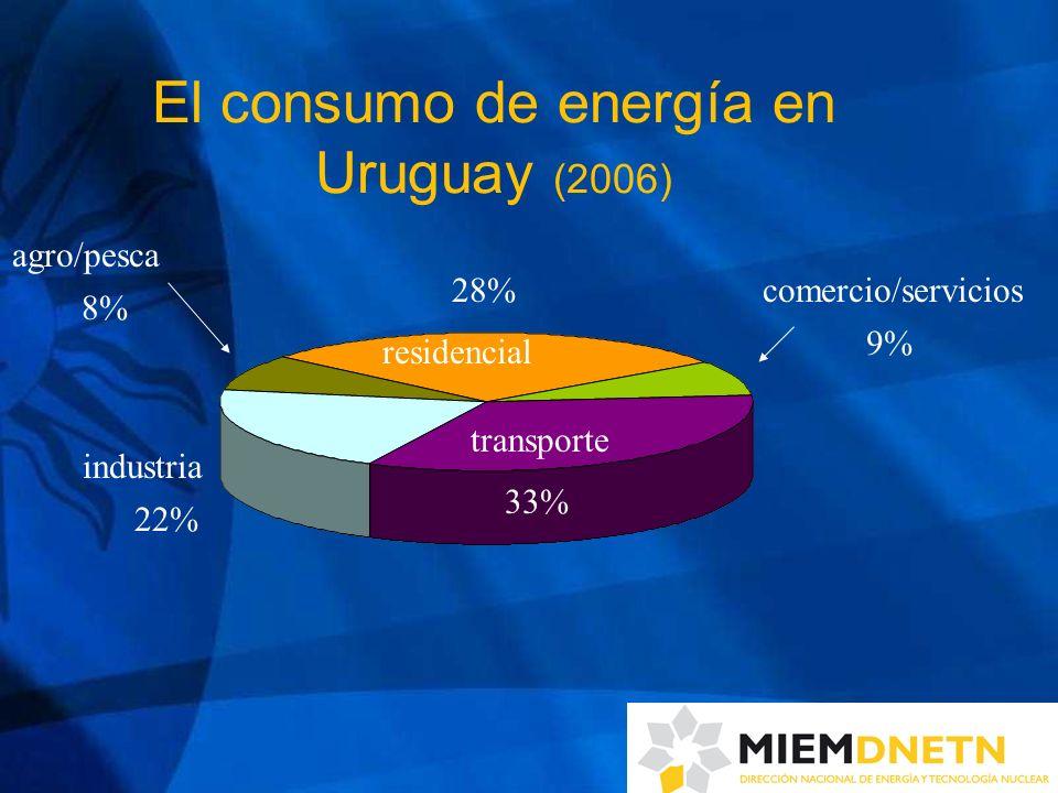 El consumo de energía en Uruguay (2006)
