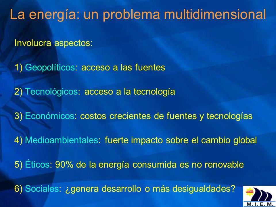 La energía: un problema multidimensional