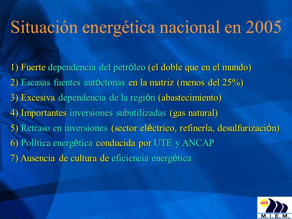 Situación energética nacional en 2005