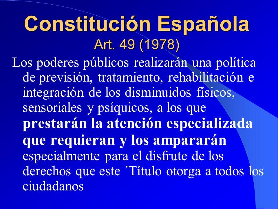 Constitución Española Art. 49 (1978)