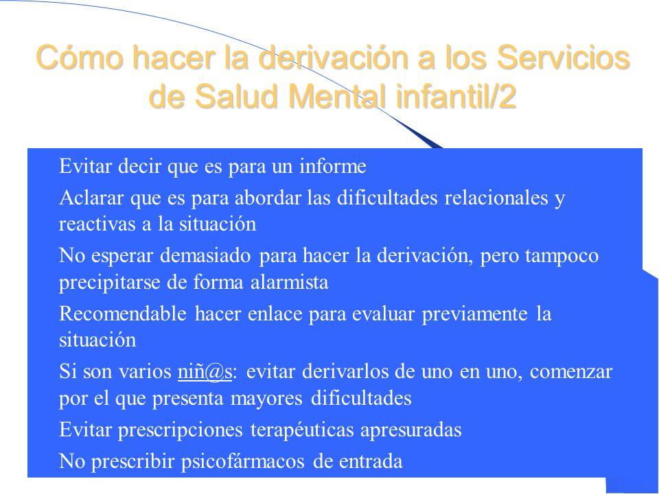 Cómo hacer la derivación a los Servicios de Salud Mental infantil/2