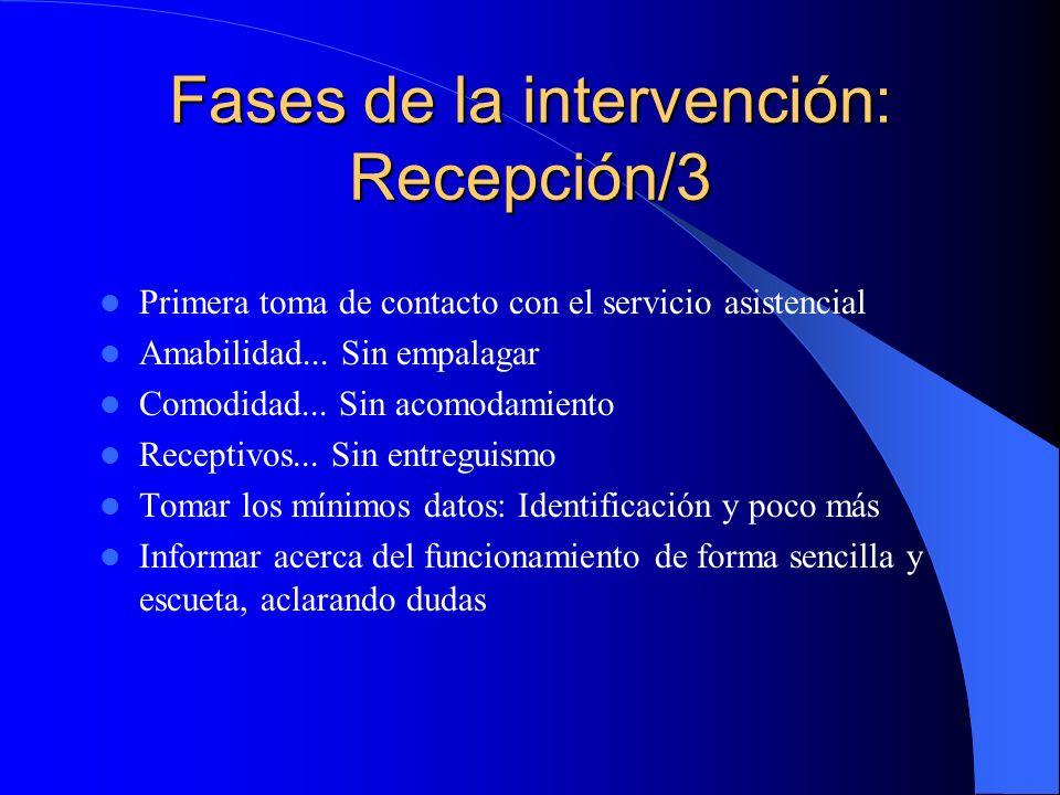 Fases de la intervención: Recepción/3