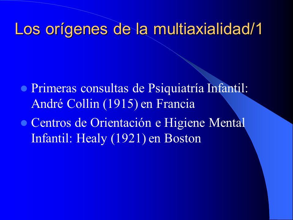 Los orígenes de la multiaxialidad/1