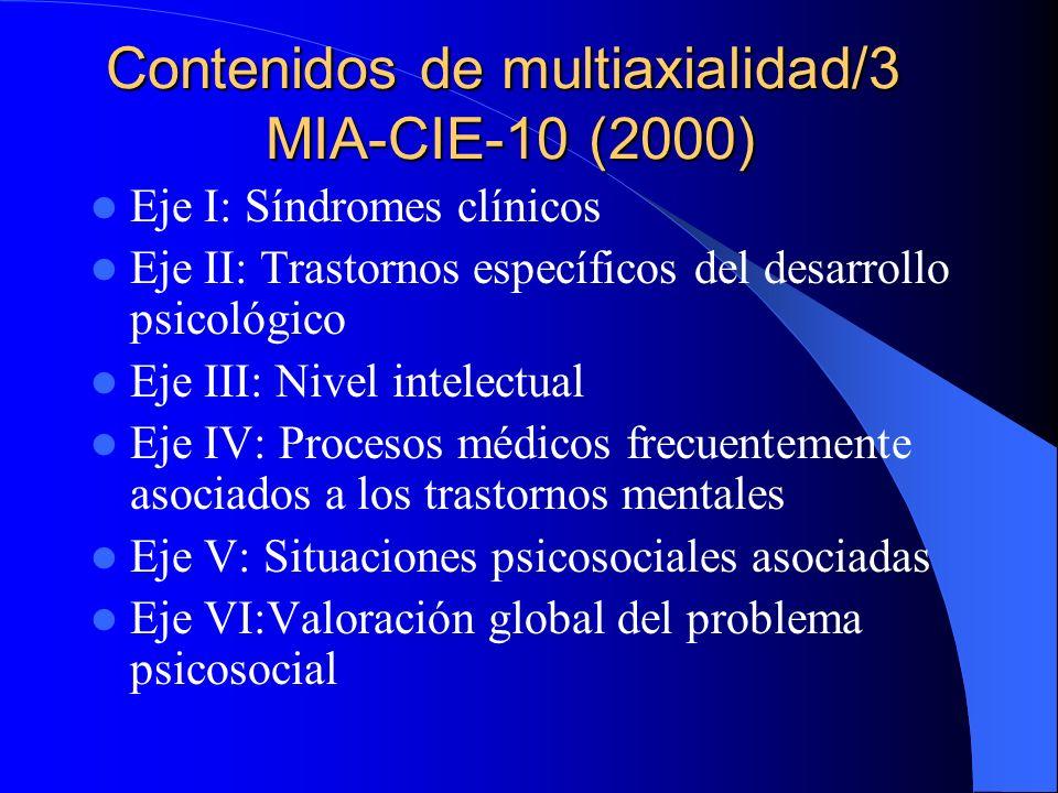 Contenidos de multiaxialidad/3 MIA-CIE-10 (2000)