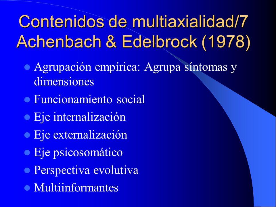 Contenidos de multiaxialidad/7 Achenbach & Edelbrock (1978)