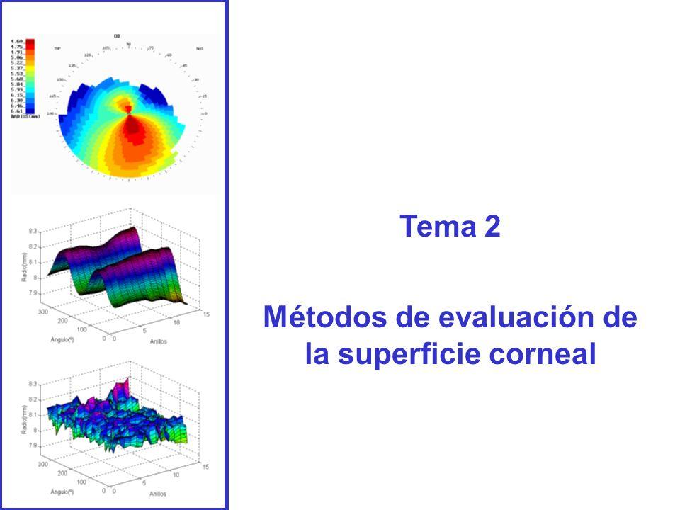 Métodos de evaluación de la superficie corneal