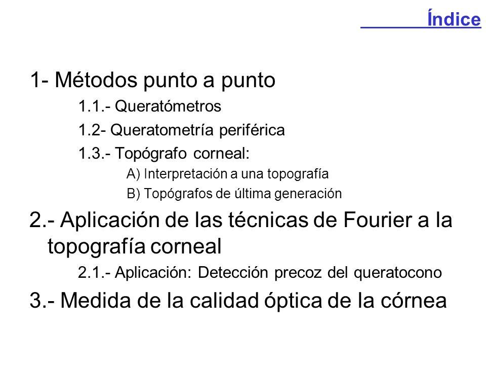 2.- Aplicación de las técnicas de Fourier a la topografía corneal