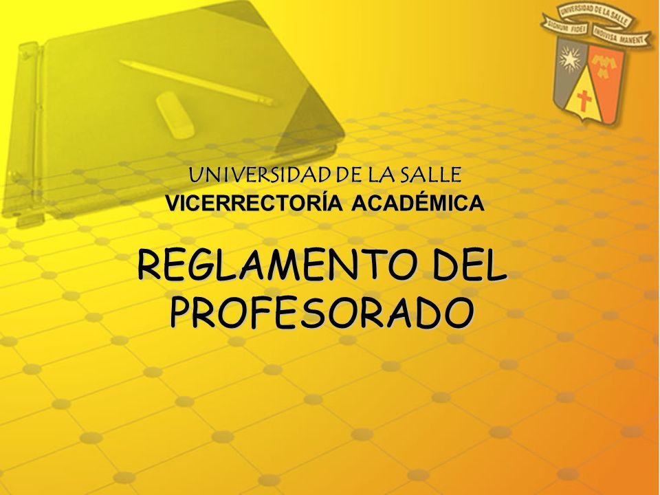 UNIVERSIDAD DE LA SALLE VICERRECTORÍA ACADÉMICA