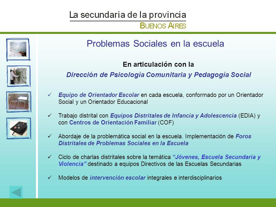 Dirección de Psicología Comunitaria y Pedagogía Social