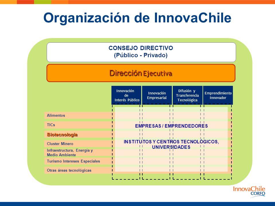 Organización de InnovaChile