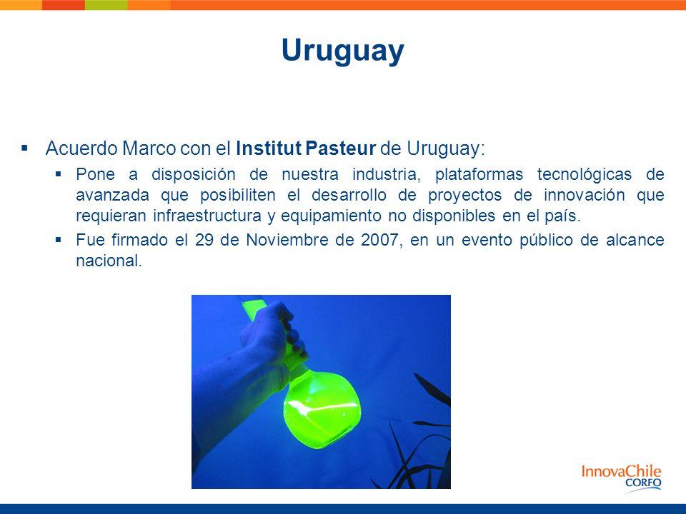 Uruguay Acuerdo Marco con el Institut Pasteur de Uruguay: