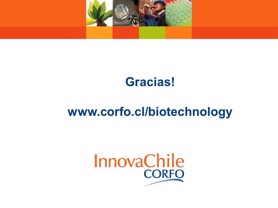 Gracias! www.corfo.cl/biotechnology