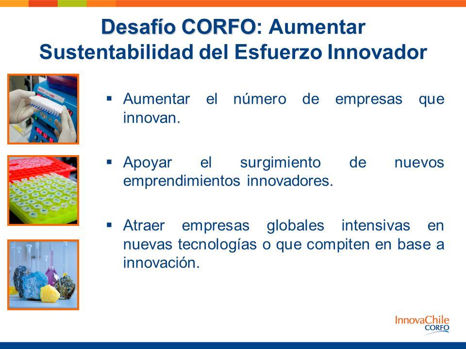 Desafío CORFO: Aumentar Sustentabilidad del Esfuerzo Innovador