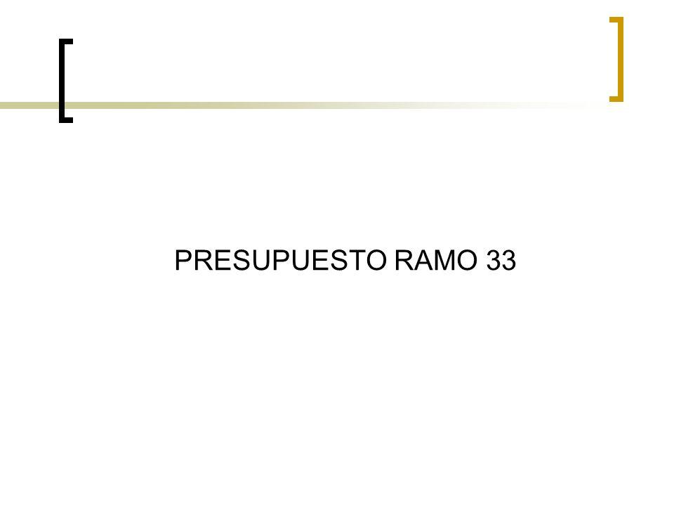 PRESUPUESTO RAMO 33
