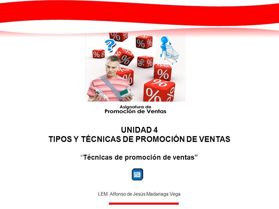 TIPOS Y TÉCNICAS DE PROMOCIÓN DE VENTAS