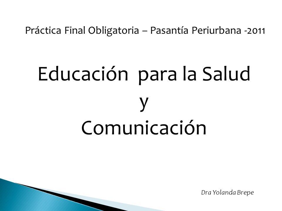 Educación para la Salud y Comunicación