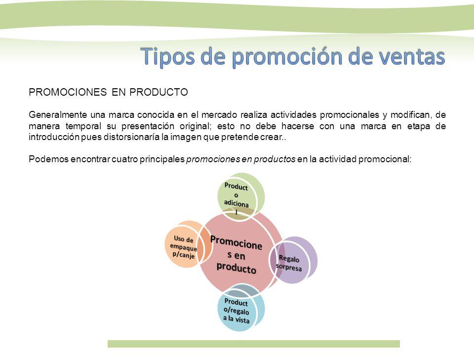 Promociones en producto Producto/regalo a la vista