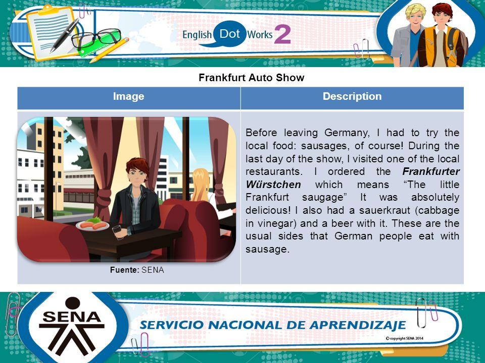 Frankfurt Auto Show Image Description