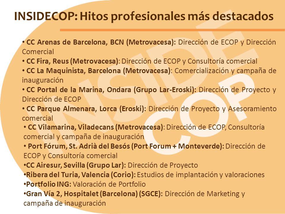 INSIDECOP: Hitos profesionales más destacados