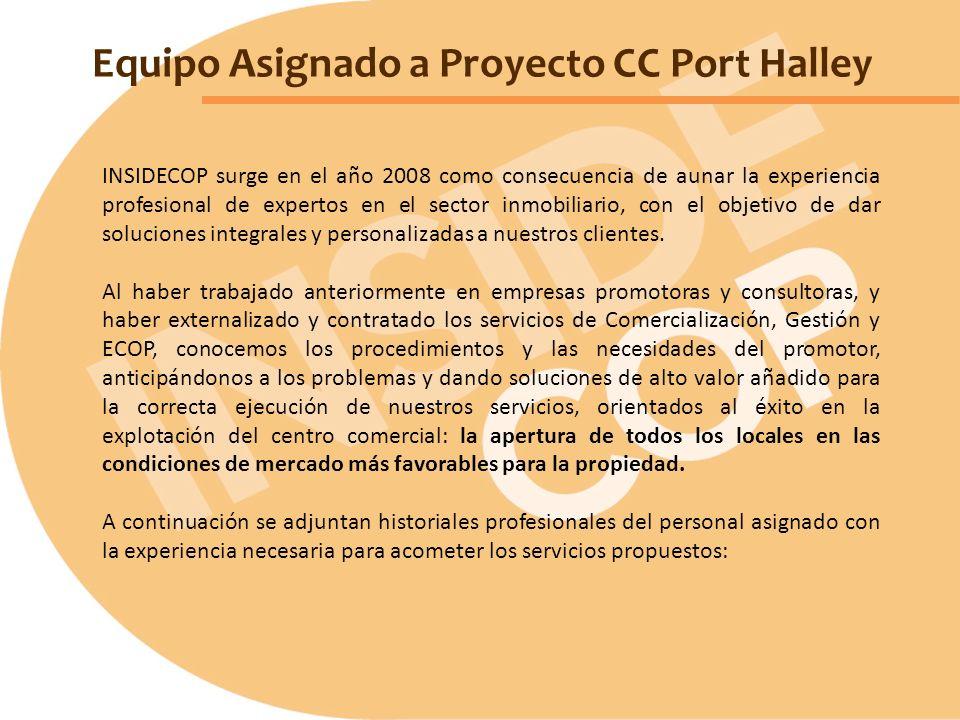 Equipo Asignado a Proyecto CC Port Halley