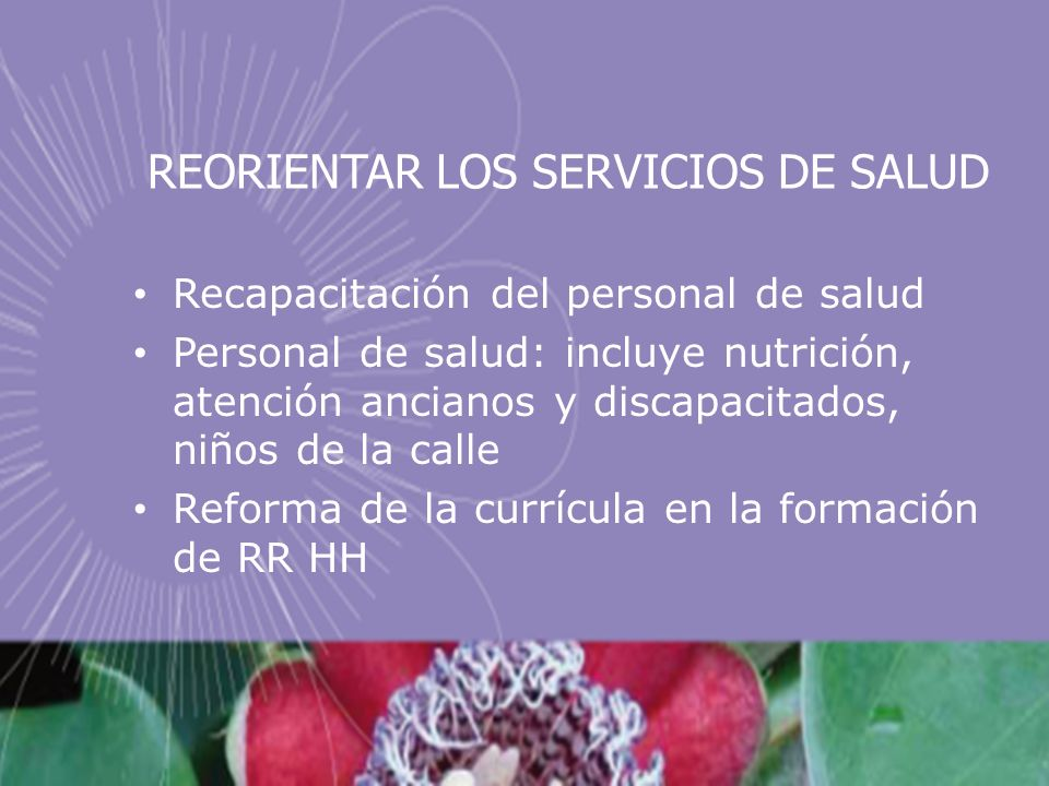 REORIENTAR LOS SERVICIOS DE SALUD