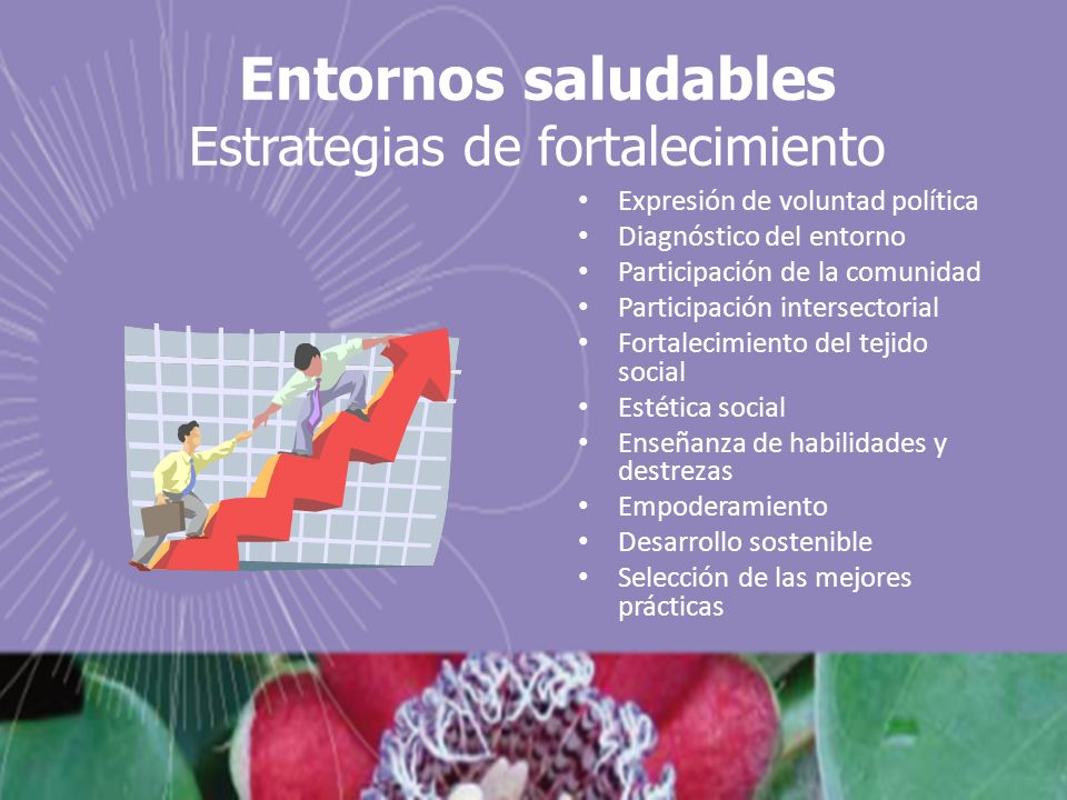 Entornos saludables Estrategias de fortalecimiento
