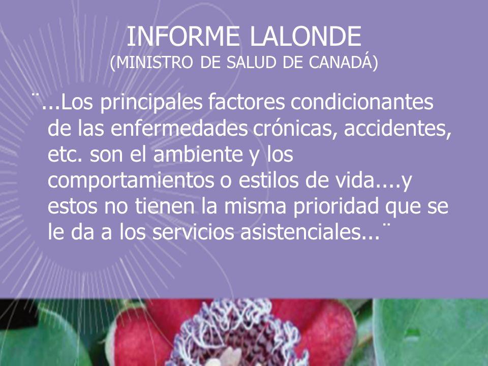 INFORME LALONDE (MINISTRO DE SALUD DE CANADÁ)