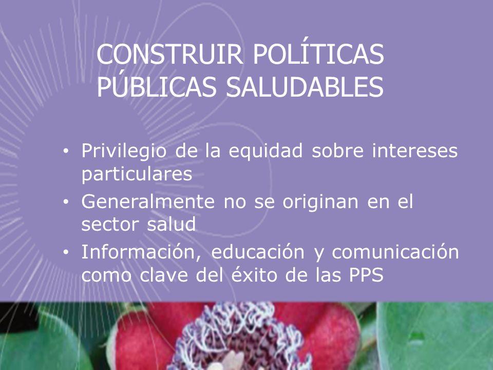 CONSTRUIR POLÍTICAS PÚBLICAS SALUDABLES