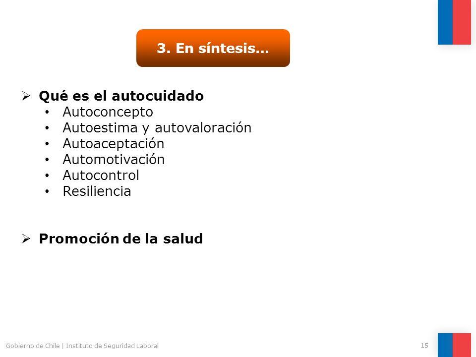 Autoestima y autovaloración Autoaceptación Automotivación Autocontrol