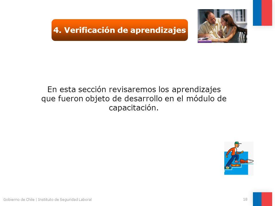4. Verificación de aprendizajes