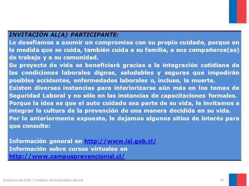 INVITACIÓN AL(A) PARTICIPANTE: