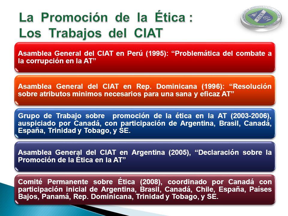 La Promoción de la Ética : Los Trabajos del CIAT
