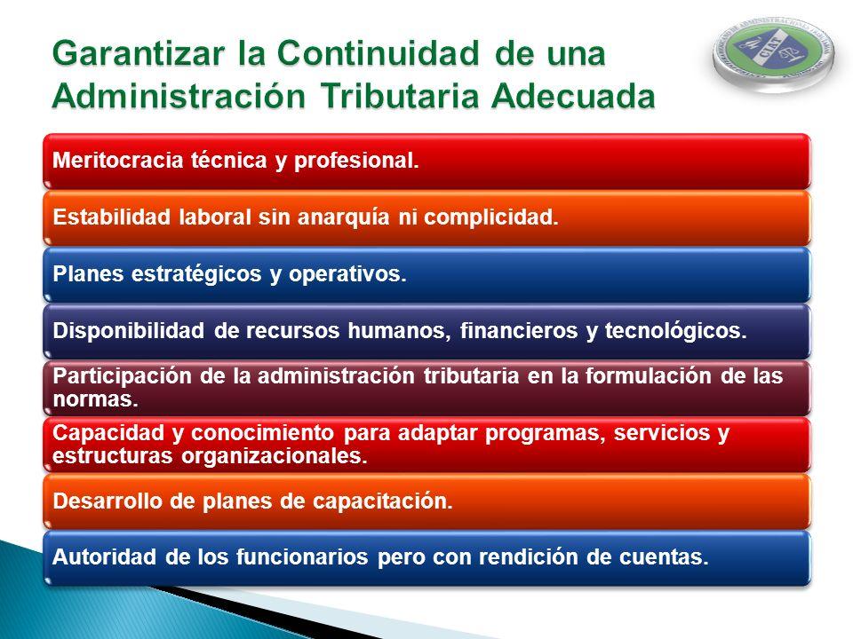 Garantizar la Continuidad de una Administración Tributaria Adecuada