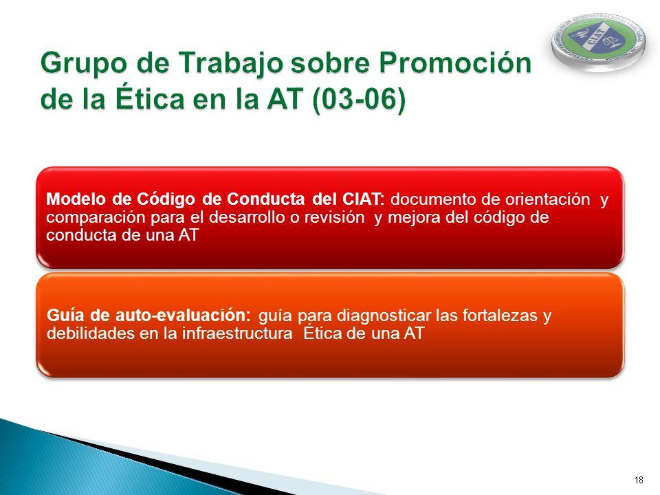Grupo de Trabajo sobre Promoción de la Ética en la AT (03-06)