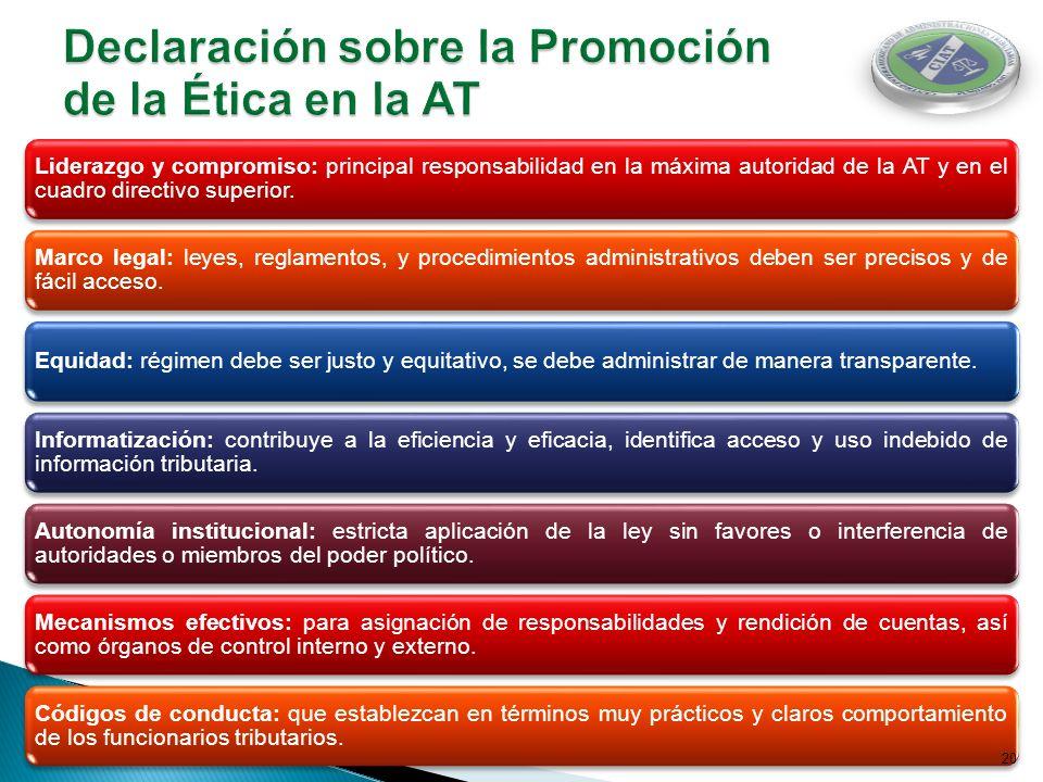 Declaración sobre la Promoción de la Ética en la AT