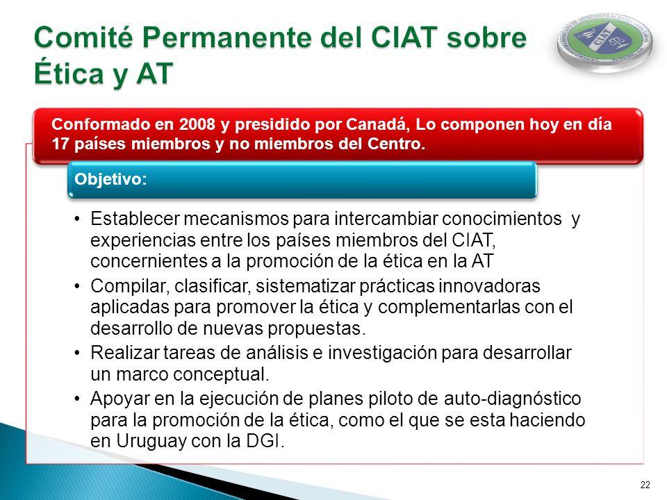 Comité Permanente del CIAT sobre Ética y AT