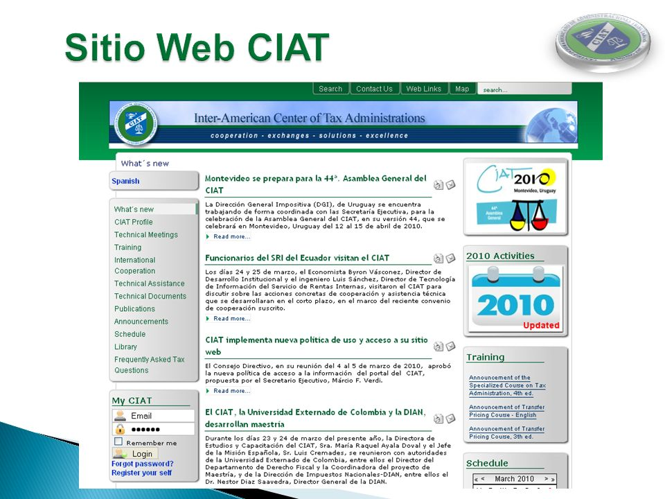 Sitio Web CIAT