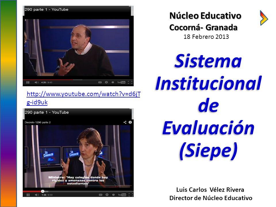 Sistema Institucional de Evaluación (Siepe)