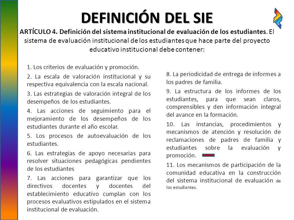 DEFINICIÓN DEL SIE ARTÍCULO 4