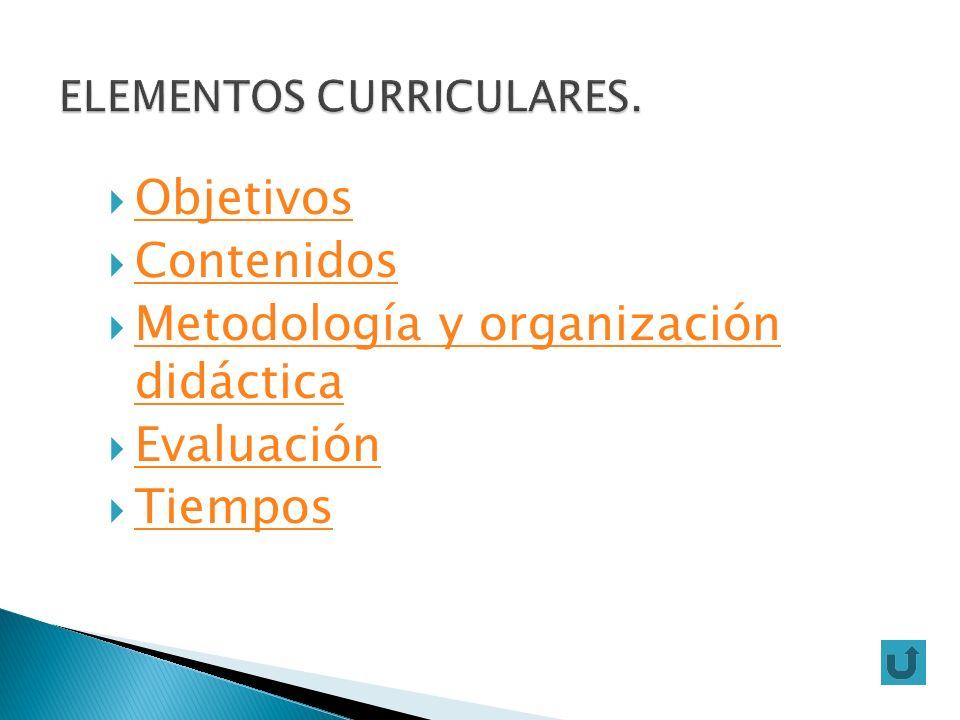 ELEMENTOS CURRICULARES.