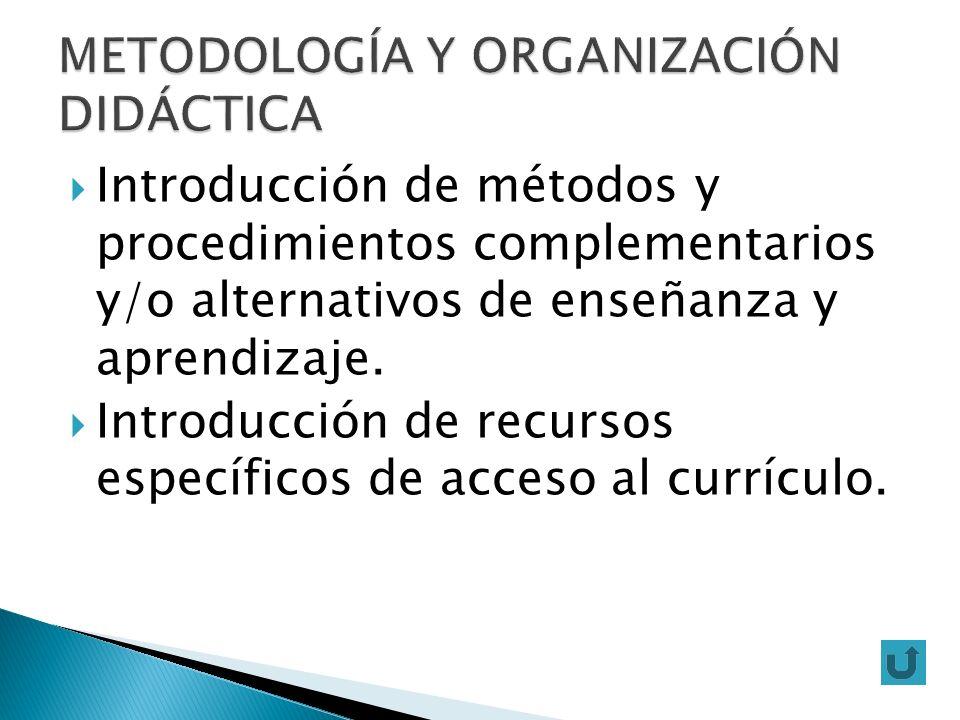 METODOLOGÍA Y ORGANIZACIÓN DIDÁCTICA