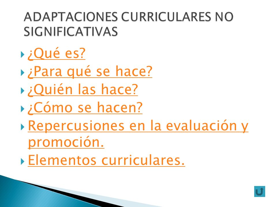 ADAPTACIONES CURRICULARES NO SIGNIFICATIVAS