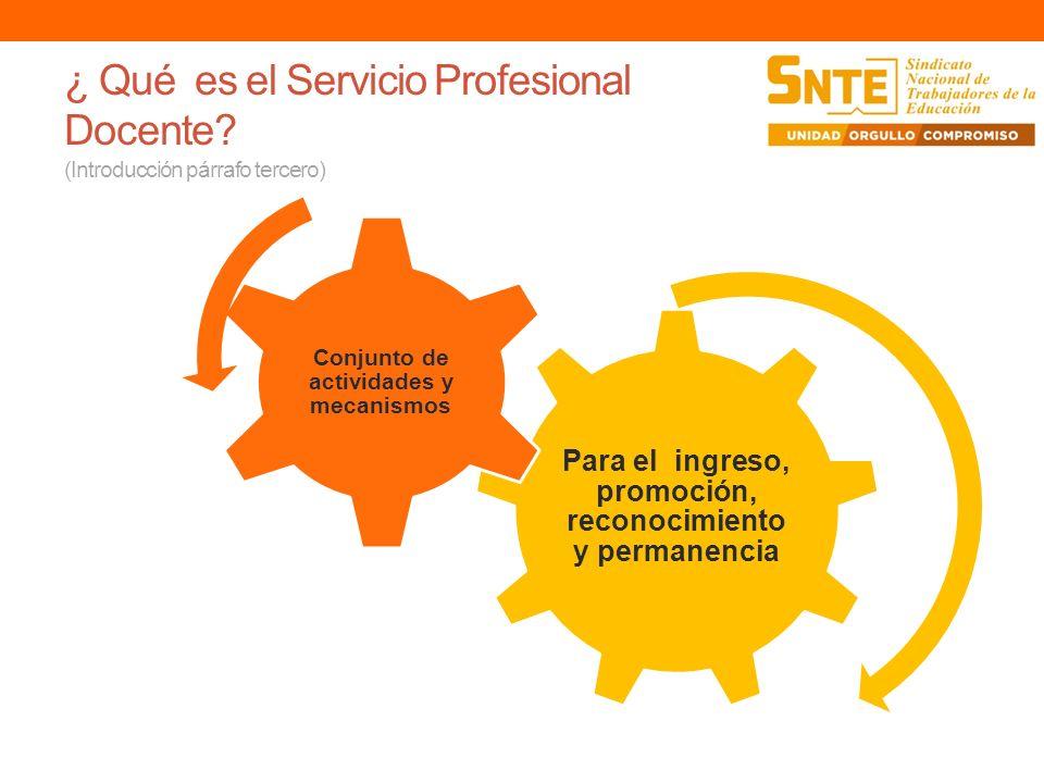 ¿ Qué es el Servicio Profesional Docente