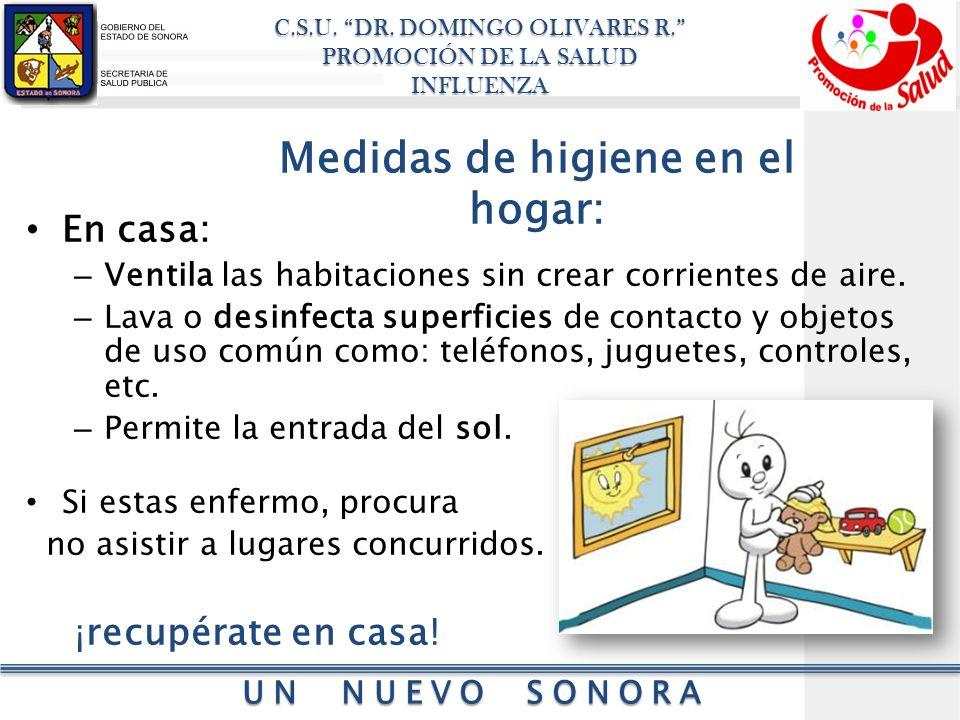 Medidas de higiene en el hogar: