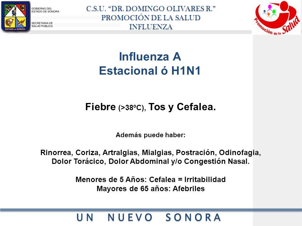 Influenza A Estacional ó H1N1