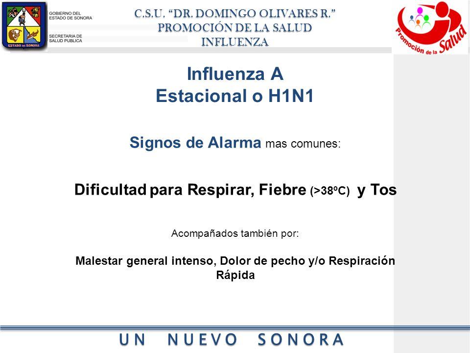 Influenza A Estacional o H1N1